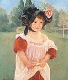 Mary Cassatt Margot Standing in a Garden