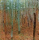 Gustav Klimt Forest of Beeches 1903