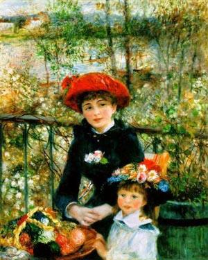 Pierre Auguste Renoir On the Terrace 1881