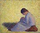 Georges Seurat Seated Woman