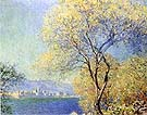 Claude Monet Antibes seen from the Salis Gardens 1888