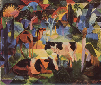 August Macke Cows and Camels