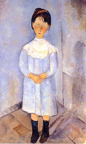Amedeo Modigliani Little Girl in Blue 1918