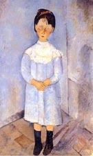 Amedeo Modigliani Little Girl in Blue 1918
