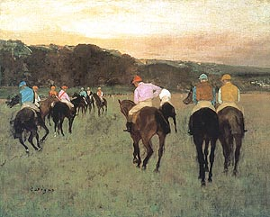 Edgar Degas Racehorses at Longchamp 1873