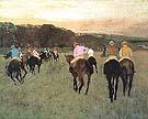 Edgar Degas Racehorses at Longchamp 1873