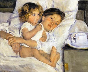 Mary Cassatt Breakfast in Bed 1897