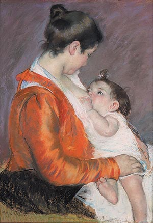 Mary Cassatt Louise Feeding Her Child  1899