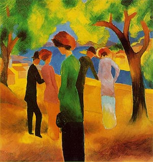 August Macke Lady in a Green Jacket 1913