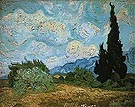 Vincent van Gogh Wheatfield with Cypresses 1889