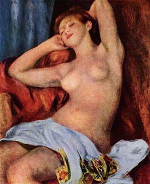 Pierre Auguste Renoir Sleeping Bather 1897