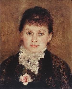 Pierre Auguste Renoir Woman with White Jabot 1880