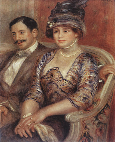 Pierre Auguste Renoir Portrait of Monsieur and Madame Bernheim de Villers 1910