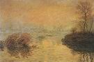 Claude Monet Sunset at Lavacourt 1880