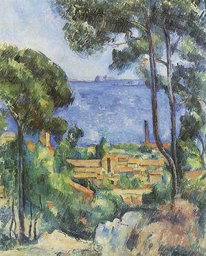 Paul Cezanne View through Trees of L'Estaque 1882-85