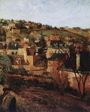 Paul Gauguin Blue Roofs of Rouen 1884