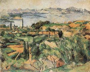 Paul Cezanne L'Estaque and the Gulf of Marseilles_1882-85