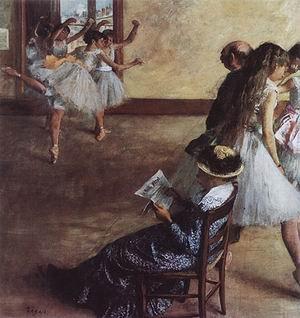 Edgar Degas The Dance Lesson (6) 1881