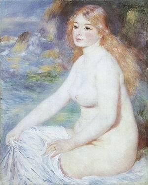 Pierre Auguste Renoir Blonde Bather 1881
