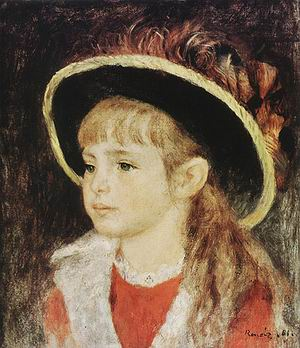 Pierre Auguste Renoir Child with Hat 1881