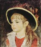 Pierre Auguste Renoir Child with Hat 1881