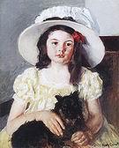 Mary Cassatt Francoise with a Black Dog 1880