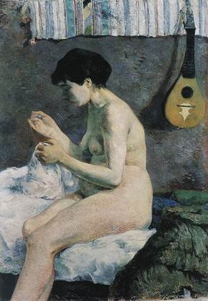 Paul Gauguin Study of a Nude (Suzanne Sewing) 1880