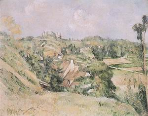 Paul Cezanne Auvers from the Val Harme 1879-82