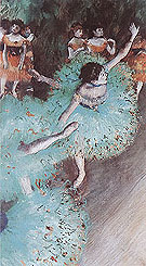 Edgar Degas Ballerina in Green 1880