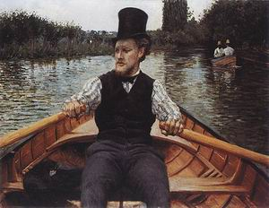 Gustave Caillebotte Boatman in Top Hat c1877