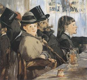 Edouard Manet At the Cafe 1878