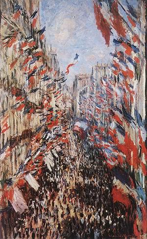 Claude Monet Rue Montorgueil Paris Festival of June 30 1878 1878