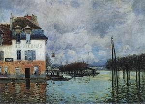 Alfred Sisley Flood at Port Marly 1876