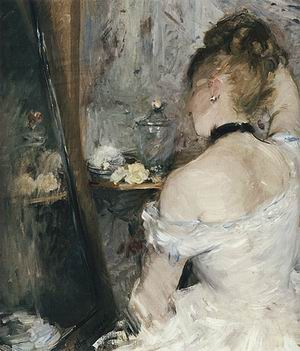 Berthe Morisot Lady at Her Toilet 1875