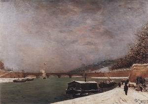 Paul Gauguin The Seine near the Jena Bridge 1875