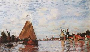 Claude Monet The Zaan at Zaandam 1871
