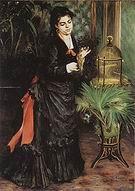 Pierre Auguste Renoir Woman with Parrot 1871
