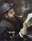 Pierre Auguste Renoir Monet Reading 1872