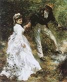 Pierre Auguste Renoir The Stroll 1870