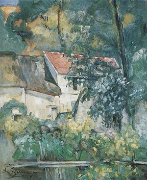 Paul Cezanne The House of Pere Lacroix at Auvers 1873