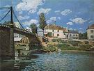 Alfred Sisley The Bridge at Villeneuve-la-Garenne 1872