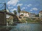 Alfred Sisley The Bridge at Villeneuve-la-Garenne 1872