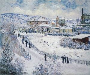 Claude Monet Argenteuil under the Snow 1875