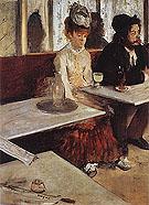Edgar Degas In a Cafe (The Absinthe Drinker) 1875