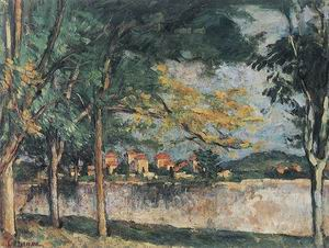 Paul Cezanne The Road (The Boundary Wall) c1875