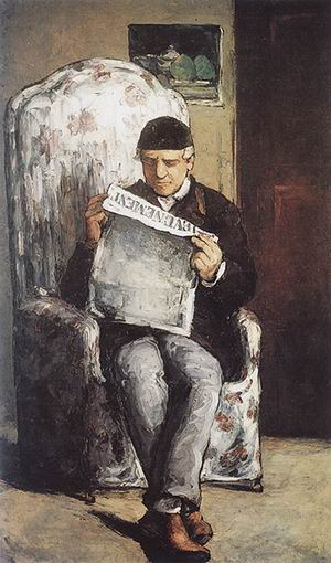 Paul Cezanne Portrait of Louis-Auguste Cezanne 1866