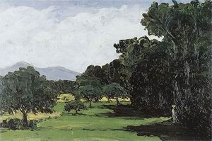 Paul Cezanne Landscape around Aix-en-Provence 1865