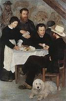 Pierre Auguste Renoir At the Inn of Mother Anthony 1866