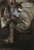 Pierre Auguste Renoir Bazille at His Easel 1867