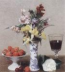 Henri Fantin Latour Strawberries and Wine Glass 1869